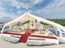 Prešov, pápež, pódium