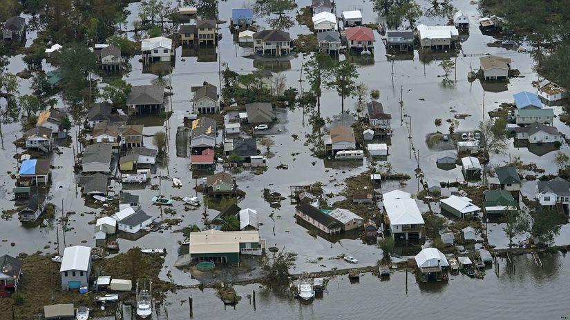 povodeň Ida Louisiana záplavy