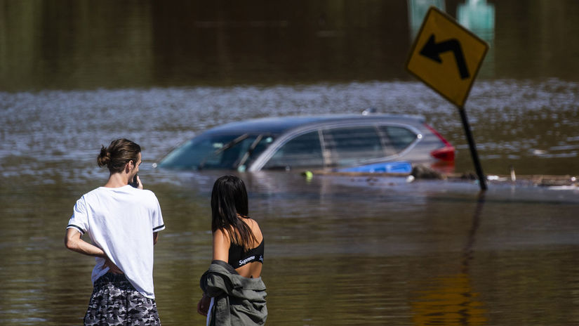 Ida voda búrka povodeň New Jersey