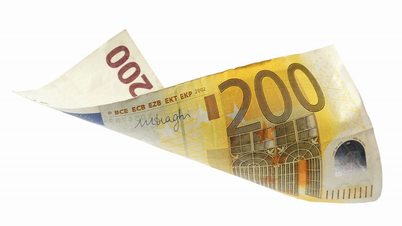 bankovka, euro, 200 eur