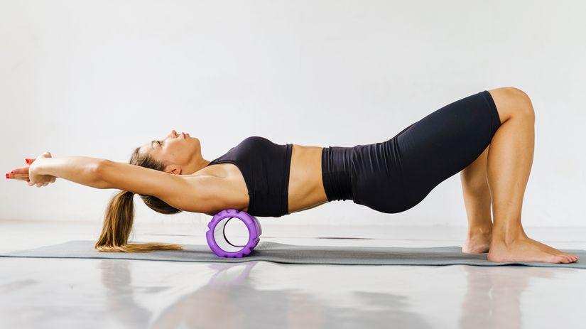 žena, cvičenie, chrbát, chrbtica, pohyb