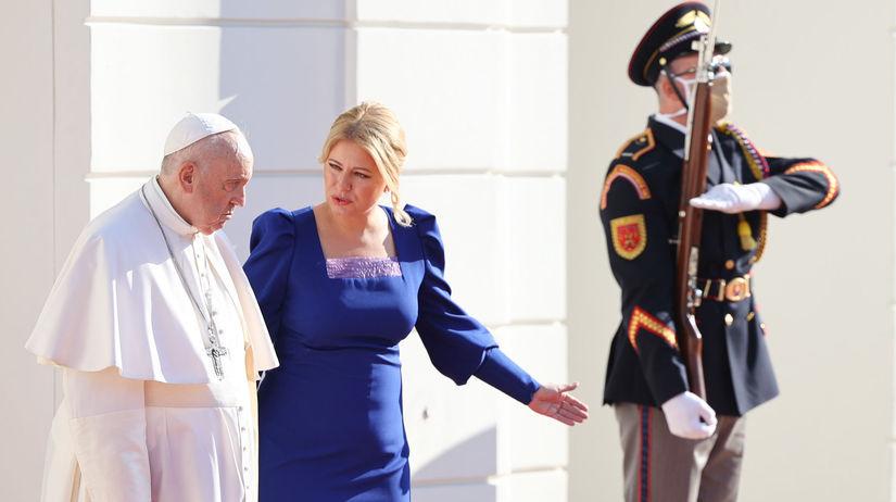 Pápež František u prezidentky Zuzany Čaputovej