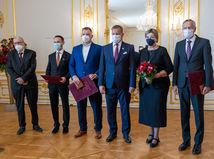 Preberanie štátnej ceny Jozefa Miloslava Hurbana