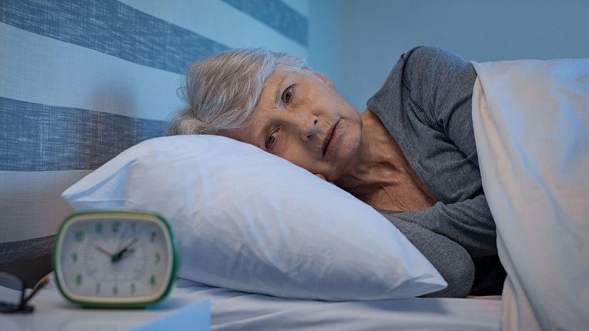 spánok, senior, nespavosť