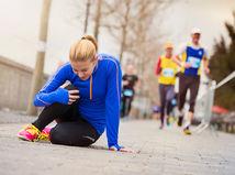 žena, beh, šport, zranenie, tréning, bolesť