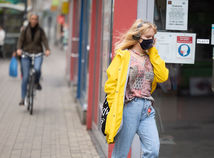 počasie, koronavírus, mesto, rúško,