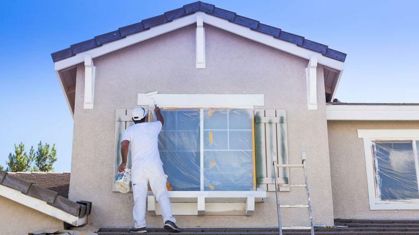 dom, novostavba, maľovanie