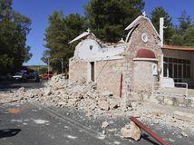 Grécko, Kréta, zemetrasenie, škody, obeť