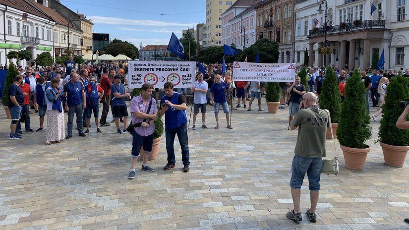 Košice / Protest / U.S. Steel /