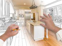 kuchyňa, plánovanie, kreslenie