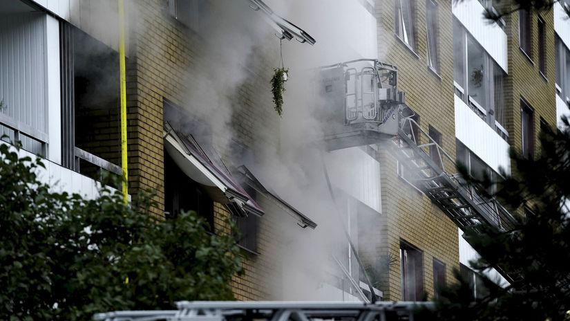 Göteborg výbuch explózia dym