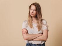 žena, názor, hnev, smútok, dievča