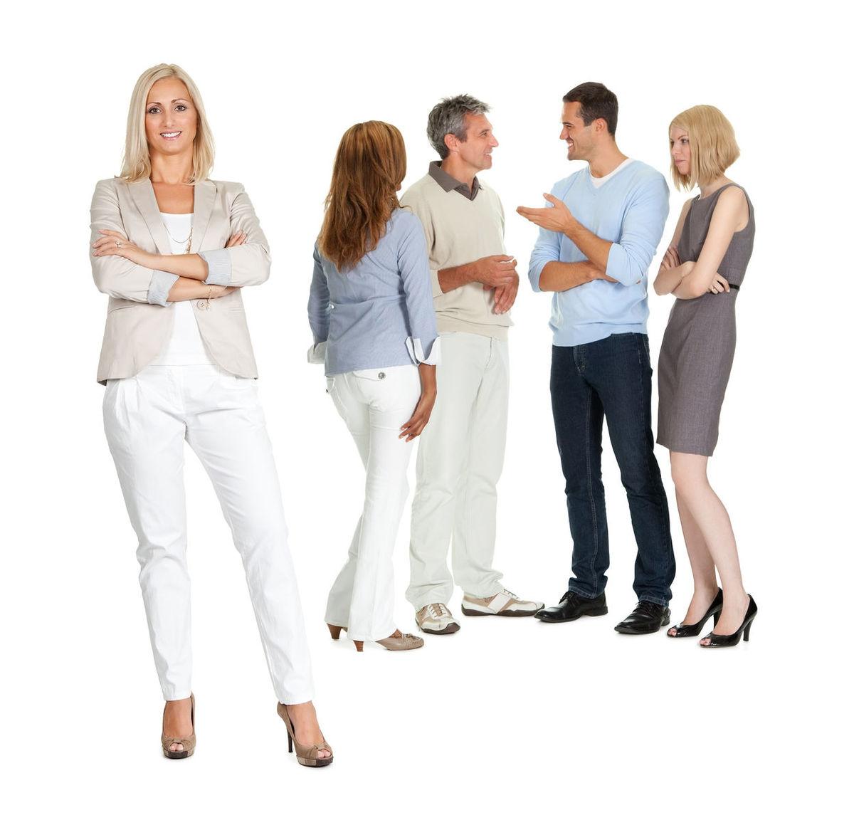 skupina, kolegovia, spoluvlastníci, rozhovor