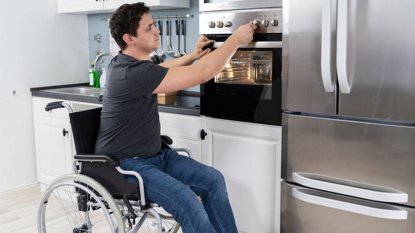 muž, invalid, invalidný vozík, rúra