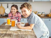 školák, dieťa, raňajky, jedlo, strava, deti