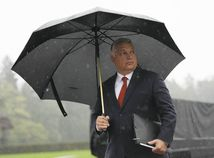 dážď, Viktor Orbán, dáždnik