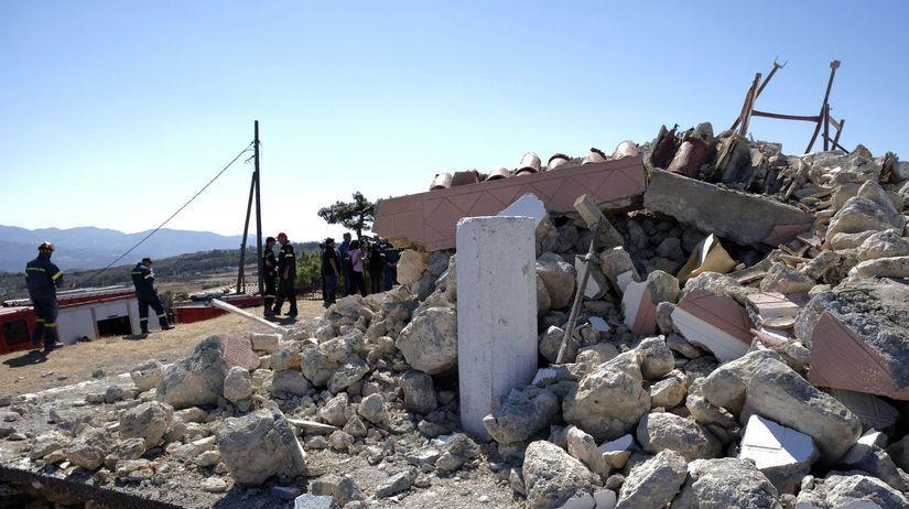 Grécko Kréta zemetrasenie škody obeť