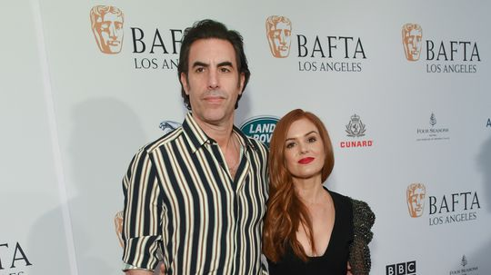 Actor Sacha Baron Cohen and his wife Isla ...