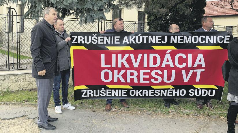 Vranov nad Topľou, protest proti rušeniu...