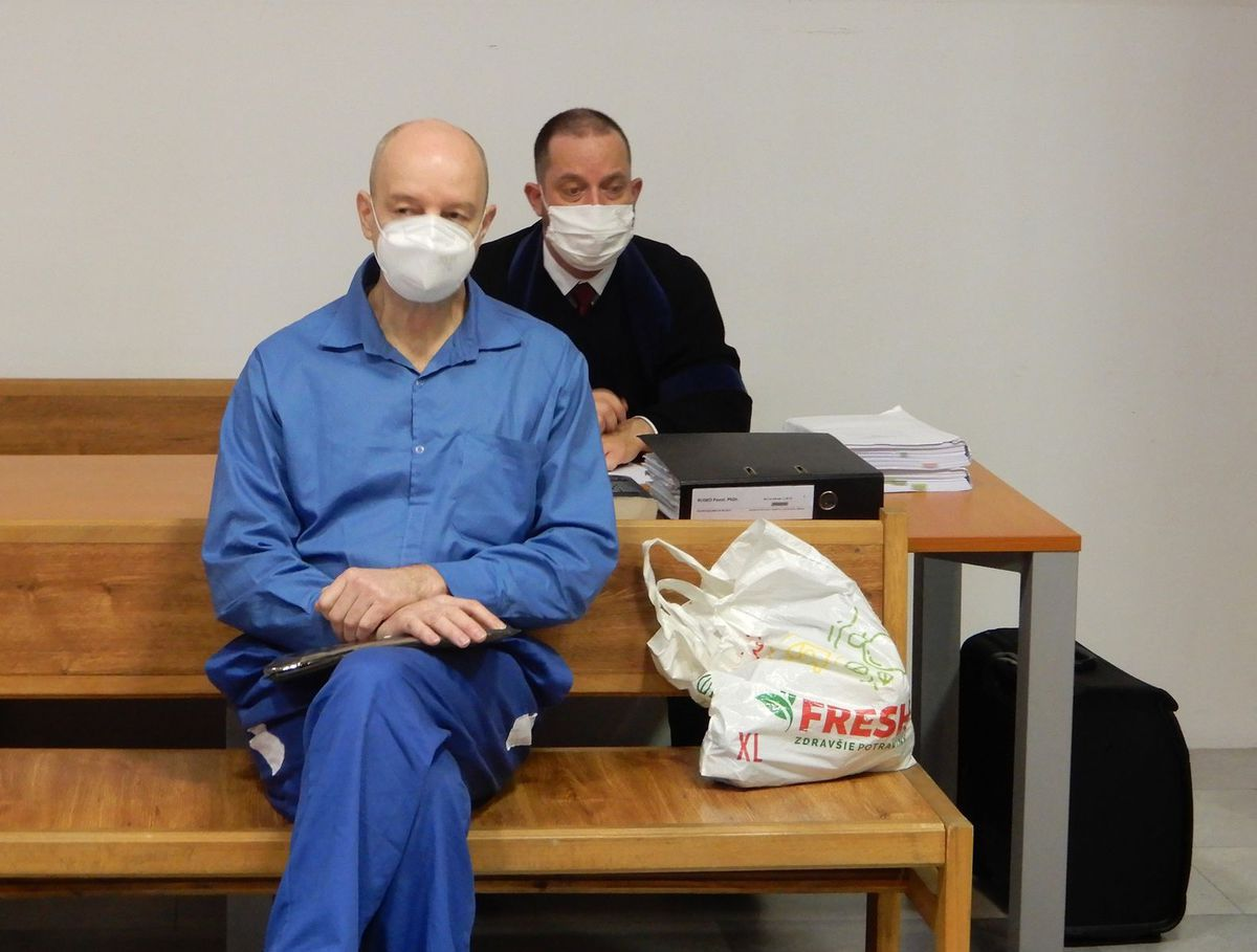 Pavol Rusko during the trial before the District Court ...