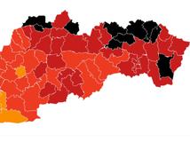 Od pondelka bude v čiernej farbe až desať okresov, väčšina na východe